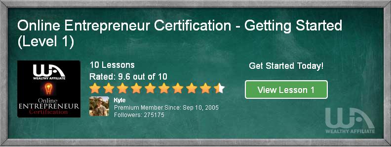Online Entrepreneur Certification Banner