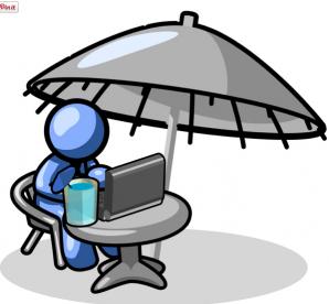 Man working outside