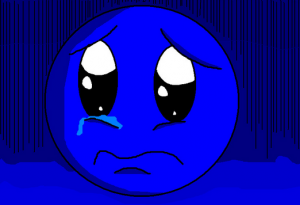 Crying blue smiley