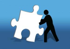 man & puzzle piece