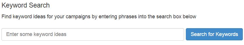 WA keyword search bar - Niche Ideas