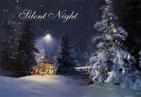 Nativity and Christmas Tree